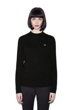 Fred Perry - Crew Neck Jumper Black
