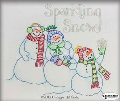 Sparkling Snow Free Embroidery Pattern by Lecien and Crab Apple Hill Studio