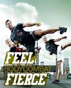 #BODYCOMBAT, a 60-minute, high-intensity cardio-aerobics class with a martial arts theme, featuring various disciplines such as taekwondo, karate, t'ai chi, kickboxing and muay thai.
