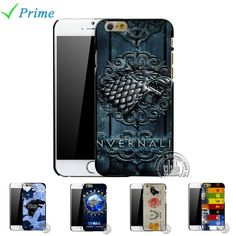 For Apple iPhone 6 6S 5 SE 5S 5C 4 4S The Game of Thrones Case House Stark Jon Snow White Ghost Wolf Symbol Flag #>=#>=#>=#>=#> Click on the pin to check out discount price, color, size, shipping, etc. Save and like it!