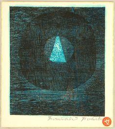 Blue Triangle Fumiaki Fukita  born 1926 Ca. 1970s.