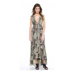NWT Alice + Olivia Lexa Maxi Dress Never worn! This beautiful maxi can be dressed up for a summer wedding or dressed down with flip flops. Versatile and 100% silk. Plunging v-neckline and cutout back makes this piece standout. Lined. Alice + Olivia Dresses Maxi