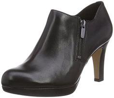 Clarks Amos Kendra, Damen Pumps, Schwarz (Black Leather), 36 EU - http://uhr.haus/clarks/clarks-amos-kendra-damen-pumps-schwarz-black-36-eu
