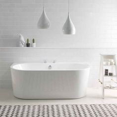 BC Designs Ancora 1640 x Free Standing Back To Wall Double Ended Bath White Gloss Family Bathroom, Simple Bathroom, Modern Bathroom, Bathroom Ideas, Bathroom Designs, Master Bathroom, Loft Bathroom, Bathroom Grey, Downstairs Bathroom