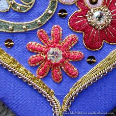 Have a Heart…Embroidered with Flowers & Goldwork – NeedlenThread.com