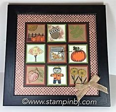 Fall Frame, Stampin' Up!, BJ Peters, Jar of Haunts, Spooky Fun, Vintage Leaves…