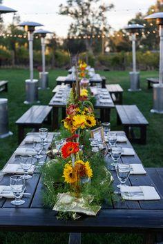 Sunset on the Lorimar Wedding Lawn
