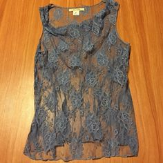 Free People Sheer Tank Cute sheer tank.. Size M but I think it runs smaller. There is a little run on top, but still great everywhere else.. Discounted price.. Free People Tops Tank Tops