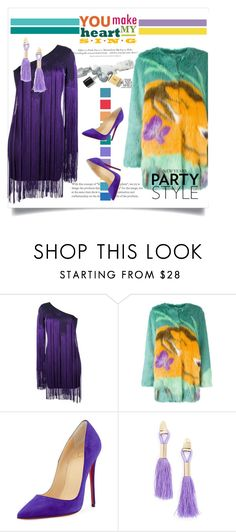 """""""New Year's Party Style"""" by vittorio-1 ❤ liked on Polyvore featuring H&M, Roberto Cavalli, Disney, Marco de Vincenzo, Christian Louboutin and Topshop"""