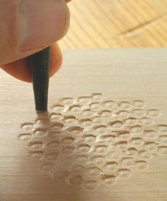Texture_ ways to add texture to wood projects: Screw or Lag Bolt impressions in the wood, great for edging. Woodworking Techniques, Woodworking Projects, Woodworking Machinery, Woodworking Furniture, Wood Joinery, Diy Furniture Plans, Wood Tools, Woodworking Workshop, Popular Woodworking