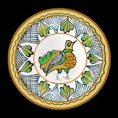 Romania Pottery, Keramik, Ceramique, Ceramica: Transylvania: Korund, Corond, Sibiu Roumania Pottery Vase, Ceramic Pottery, Dinnerware Inspiration, Folk Art, Decorative Plates, Spain, Education, Tableware, Bass Drum