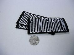 SOUNDGARDEN Fuzzy Logo IRON/SEW ON EMBROIDERED PATCH NEW 4x2