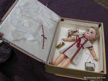 """Magnificent Cabinet Size 13"""" French Bisque Antique Tete Bebe Jumeau Doll in Fabulous Presentation Box"""