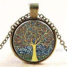 $2.82 1Pc Retro Vintage Life Tree Chain Pendant Sweater Necklace Bronze/Silver - BornPrettyStore.com