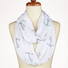 Aqua Anchor Infinity Scarf | World Market