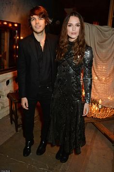 So in love: Keira Knightley made sure she was the star of the show as she attended the Erdem LFW wrap party in association with Selfridges on Monday night with her husband James Righton