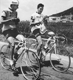 Eddy Merckx 1967 on a Masi (?) with Campagnolo Record crankset, derailleur and hubs, Mafac brakes, not sure about rear derailleur (Simplex) | by oldcampy