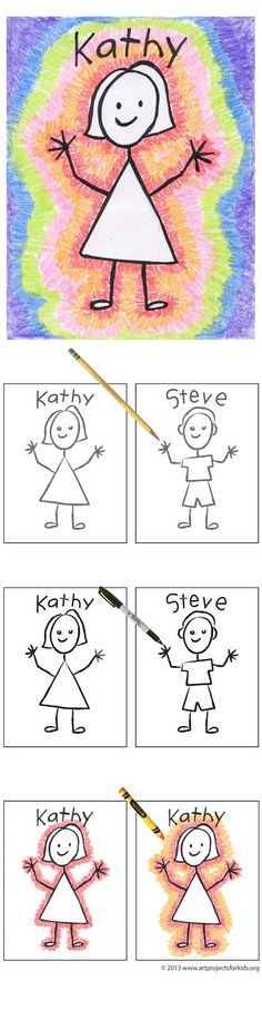 Art Projects for Kids: Back to School Stick Portrait