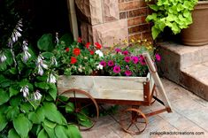 pictures of flower arrangements in a wagon | love all the colors and combinations of flowers in this arrangement ...