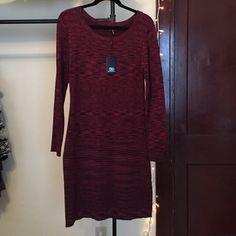 Tart long sleeve dress Dark red/black heathered. Great condition, never worn! Stretchy 80% viscose, 20% Nylon Tart Dresses Long Sleeve