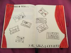 Theatre/Concerts module. I've done pretty well so far and it's only June! #bulletjournal #module #memories #bujo