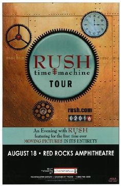 Time Machine Tour Rush Red Rocks