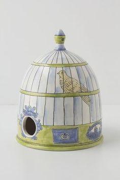 Trompe L'Oeil Birdhouse, Canary  #wishitwinit  @anthropologie