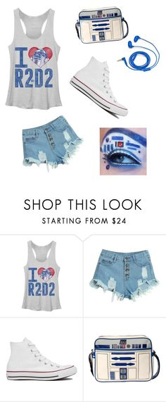 """""""WEEEEEE KENNA"""" by camybasilio ❤ liked on Polyvore featuring WithChic, Converse, FOSSIL, women's clothing, women, female, woman, misses and juniors"""