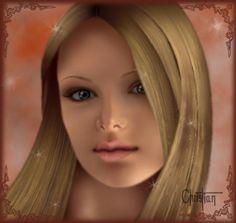 Ilustración realista, rostro chica 3