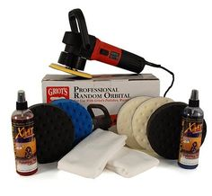 Griots Garage Random Orbital Polisher & Pad Kit - http://www.productsforautomotive.com/griots-garage-random-orbital-polisher-pad-kit/