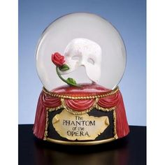 San Francisco Music Box Phantom of the Opera™ Mask with Rose Waterglobe