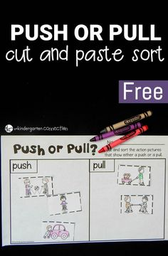 Push or Pull Sort is part of Science Notebook Force And Motion - Work on identifying types of forces with this push or pull cut and paste sort It is perfect to add to a forces and motion unit for kids! Primary Science, Preschool Science, Physical Science, Science Classroom, Teaching Science, Elementary Science, Student Teaching, Science Worksheets, Science Lessons