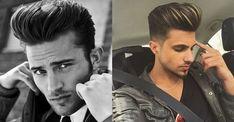 como-fazer-topete-como-fazer-pompadour-hairstyle-haircut-corte-masculino-cabelo-masculino-moda-sem-censura-alex-cursino-blog-de-moda-masculina Pompadour, Male Curly Hair, Hair Beauty, Boys, Men, Fictional Characters, Men's Pompadour Hair, How To Make Hair, Quiff Hair