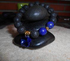 Lava Rock Bracelet, Lapis Bracelet, Pre Teen Gift, Yoga Bracelet, Stone Bracelet, Women Jewelry, Men Jewelry, Wrist Mala, Beaded Bracelet de Mainashiki en Etsy