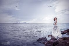 Girl at the sea by Evgeny Lanin on 500px