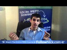 www.FollowNick.com 15. Use facebook events - Facebook Marketing About Facebook, Free Courses, Facebook Marketing, Social Media, Youtube, Fun, Events, Dominatrix, Social Networks
