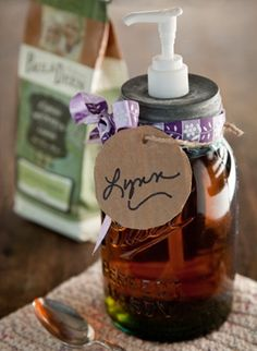As a lover of coffee, vanilla and mason jars, I would be giddy to receive this homemade vanilla coffee syrup. Paula Deen shares the recipe and mason jar dispenser tutorial for this coffee lovers treasure that takes about 15 minutes to make. Yet another reason to hoard those jars!