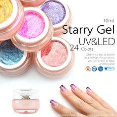 Latest nail art manicure tools price 6195 free shipping canni 24 colors nail art design for nails soak off led starry glitter uv paint gels uv glitter powder gel prinsesfo Choice Image