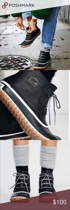 413c88fd9e41 LOWEST NEW sorel out n about black and white boot