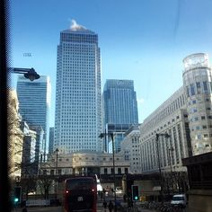 Canary Wharf on a sunny winters day by chairmanjuan