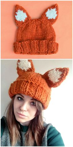 These 50 free crochet fox patterns would surely change your views from evil and cunning to cute and adorable about the foxes! Crochet Mittens, Knit Or Crochet, Cute Crochet, Crochet Crafts, Knitted Hats, Crochet Pattern, Diy Crafts, Crotchet, Fox Hat