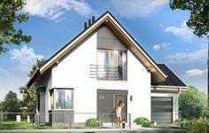 Projekt Gucio 2 to nowoczesny niewielki domek dla cztero-pięcioosobowej rodziny. Parterowy budynek przekryty dwuspadowymi dachami, z dobudowanym do głównej bryły garażem. Dom zaprojektowano, aby dać jak największy komfort przyszłym mieszkańcom, tworząc otwartą przestrzeń dzienną, charakterystyczną dla dużych domów jednorodzinnych. Salon połączony z holem, aneksem jadalnym z wykuszem, wyeksponowanymi reprezentacyjnymi schodami będzie wspaniałym miejscem do życia dla przyszłych domowników.