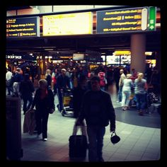Amsterdam Int'l Airport  an airport so large, it gives you 20 minutes to walk from the domestic gate to international terminal, and it's right