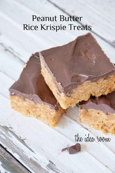 Peanut butter, chocolate, and butterscotch Rice Krispie treats