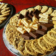 Cookie and bar platter www.swirlzcustomconfections.com