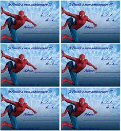 coloriage carte anniversaire spiderman 2
