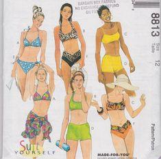 Sewing Patterns for Women Swimsuit Sewing Pattern Gym Wear Bikinis Summer Pattern Sportswear Size 12 McCall's 8813 Australian Seller by PatternsFromOz on Etsy