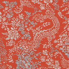 Striking persimmon decorator fabric by Robert Allen. Item 262111. Huge savings on Robert Allen products. Free shipping! Over 100,000 luxury patterns and colors. Only first quality. Width 55 inches. Sold by the yard.