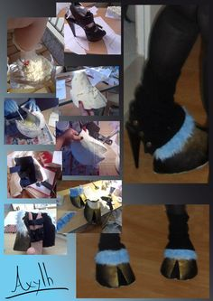 Hooves tutorial (without sacrificing any shoes -- they use elastic to hook over your shoes)