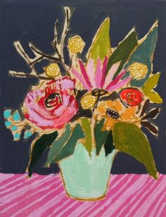 "I'm madly in love with this Lulie Wallace painting, ""Flowers for Lori."""